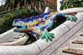 Lizard Stairs Park Guell, Barcelona, Spain Royalty Free Stock Photography - 49933077