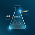Creative Template Chemistry Test Tube Banner Line . Royalty Free Stock Photo - 49937575