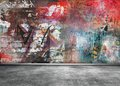 Graffiti Wall Royalty Free Stock Image - 49941276