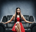 Young, Beautiful And Glamour Woman In Red Dress Royalty Free Stock Photos - 49942348