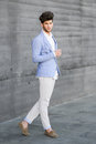 Attractive Young Handsome Man, Model Of Fashion In Urban Backgro Royalty Free Stock Photography - 49942507