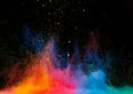 Launched Colorful Powder Over Black Stock Image - 49951521