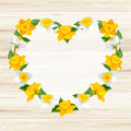Heart Of Spring Flowers Royalty Free Stock Photo - 49961125