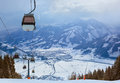 Mountains Ski Resort Zell-am-See Austria Royalty Free Stock Photography - 49968277