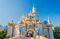 Sleeping Beauty Castle At Disneyland Park. Royalty Free Stock Images - 49978219