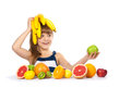 Girl With Fruit Stock Photography - 49985172