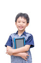 Boy Smiles With Tablet Computer Royalty Free Stock Images - 49994299