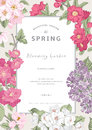 Vintage Vector Vertical Card Spring. Royalty Free Stock Image - 49994436