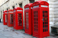 Red Phone Booths Royalty Free Stock Images - 508689