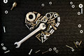 Heart Of The Tools And Screw Nuts Stock Images - 50011644