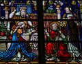 Wedding Of Joseph And Mary - Stained Glass Royalty Free Stock Images - 50011689