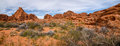 Panorama Of Valley Of The Fire State Park, Nevada Royalty Free Stock Photography - 50027097
