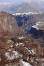 The Canyon Of Azat River And Symphony Of Stones Near Garni In Winter Royalty Free Stock Photos - 50033338