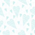 Valentine Seamless Pattern With Turquoise Hearts On A White Background Stock Photo - 50035840