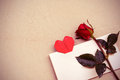 Red Rose With Heart Shape Stock Images - 50043674