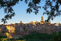 View Of Pitigliano Among The Branches Royalty Free Stock Photography - 50054447