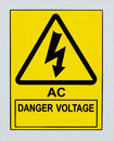 AC Danger Voltage Stock Images - 50068434