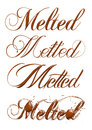 Melted Chocolate Text Isolated On White Background Royalty Free Stock Photo - 50073025