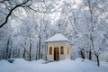 Church In Winter Forest Stock Photo - 50078070