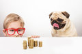 Boy And His Dog Royalty Free Stock Photo - 50080715