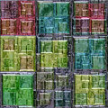 Pattern Of Colored Lead Glass Windows Stock Photos - 50094873