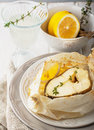 Cod Fillets  Baked In Parchment Paper With Slices Royalty Free Stock Images - 50114099