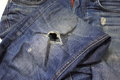 Patch A Hole In The Jeans Stock Photo - 50121290