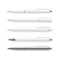 Vector Set Of Blank Pens Isolated On White Stock Photo - 50134960