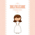 My First Communion Stock Image - 50135391