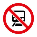 No Train Sign Icon Great For Any Use. Vector EPS10. Stock Photos - 50141413