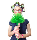 Woman With Brush Stock Image - 50150731