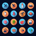 Space Icons Flat Royalty Free Stock Photos - 50165788