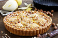 Pear Pie With Nuts Stock Photos - 50172673