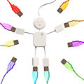 USB Man And Colorful Plugs Stock Photos - 50182253