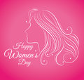 Womens Day Card Design, Vector Illustration. Royalty Free Stock Photo - 50186905