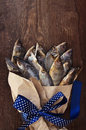 The Bouquet From Salty Dry Fish. A Gift For Men. Stock Photos - 50188533