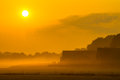 Orange Farm Sunrise Royalty Free Stock Images - 50194679