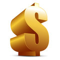 Golden Dollar Royalty Free Stock Images - 50195219