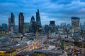 City Of London, Business And Banking Aria. London S Panorama In Sun Set. Royalty Free Stock Images - 50196959