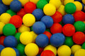 Background Of Colorful Plastic Balls At Playground Stock Photos - 5021023