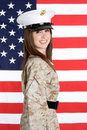 Military Woman Royalty Free Stock Photos - 5026468