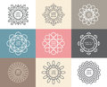 Vector Set Of Calligraphic,flower Abstract Templates Concept. Royalty Free Stock Photography - 50201717