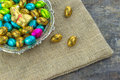 Chocolate Easter Eggs And Bunny Stock Photos - 50207963