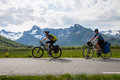 Two Mountain Bike Cyclists, Norway Stock Images - 50218684