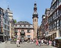 Center Of German Medieval City Bernkastel With Shopping Tourists Royalty Free Stock Photo - 50222065