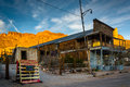 Evening Light On A Building And Mountains In Oatman, Arizona. Stock Photo - 50227560