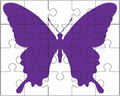 Puzzle And Butterfly Stock Photography - 50228482
