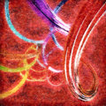Abstract Background With Colorful Wavy Twisted Ribbons. Royalty Free Stock Photo - 50230655