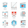Film And Video Production Line Icons Set Royalty Free Stock Photos - 50249218