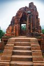 MySon Temple Red Bricks In Cloudy Weather Vietnam Royalty Free Stock Photos - 50260938